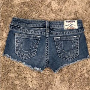 True Religion Cut Off Concept Denim Jean Shorts